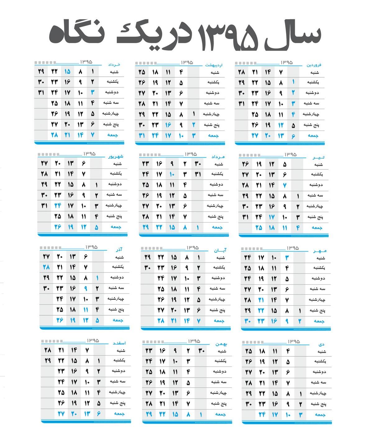 سبزه کنجد سفید تقویم سال 1365