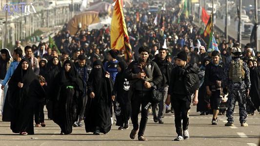 پیاده روی جوانان روستا به سمت کربلا
