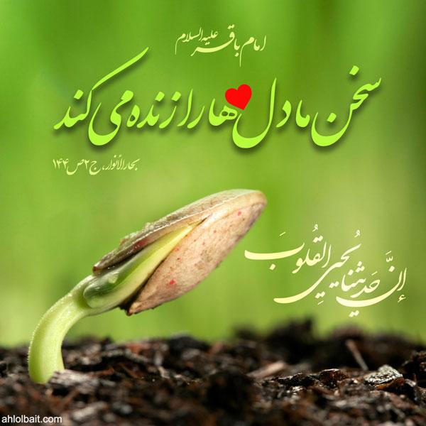 امام باقر(علیه السلام):  سخن ما دل ها را زنده مى کند