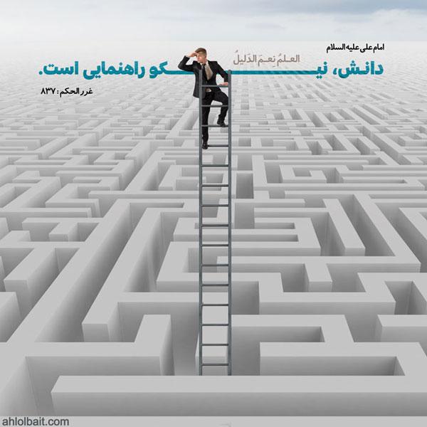 امام علی علیه السلام : دانش، نیکو راهنمایى است