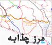 نقشه راهنمایی مرز چذابه تا نجف اشرف