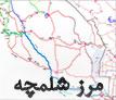 نقشه راهنمای مرز شلمچه تا نجف اشرف